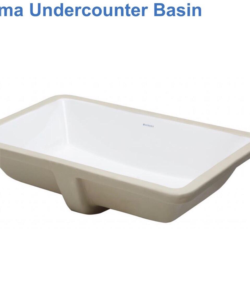 【麗室衛浴】Geberit  117.003.00.1下崁盆專用方形台下盆洗臉盆NORMA