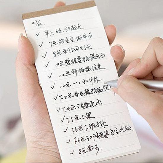✭米菈生活館✭【Q295】便攜式便籤本 可撕 環保 隨身 筆記 記事 書寫 提醒 備忘錄 文具 學生 辦公