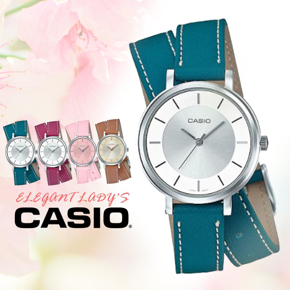CASIO手錶專賣店國隆CASIO LTP-E143DBL-3A真皮錶帶礦物玻璃50米防水