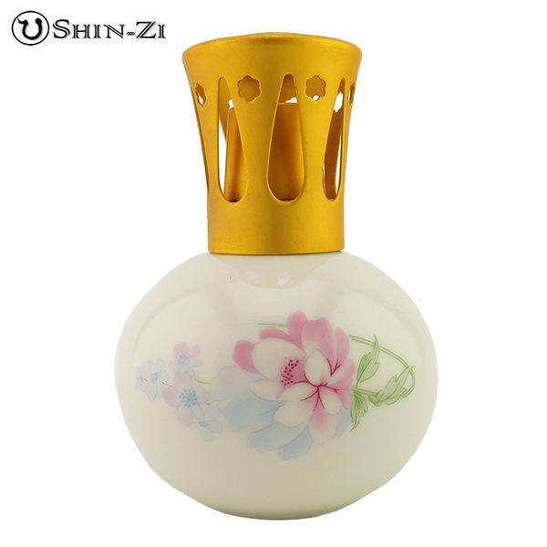 牡丹陶瓷薰香瓶陶瓷瓶薰香瓶薰香精油瓶香薰瓶香薰精油瓶