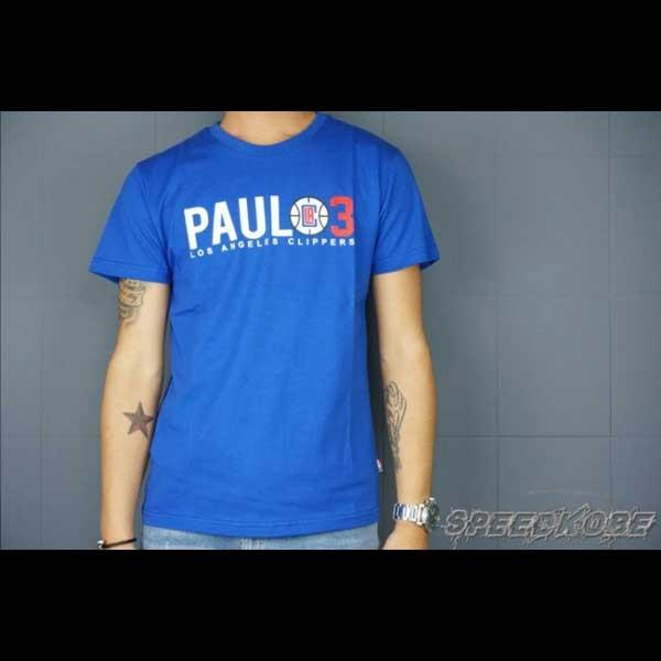 創信NBA球員T快艇隊PAUL 3寶藍色短袖LOGO短T棉質8630234-124 SP