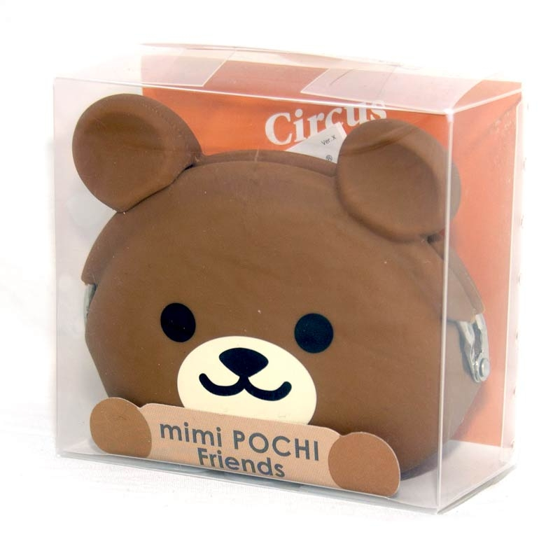 小熊矽膠零錢包日本正版mimi POCHI