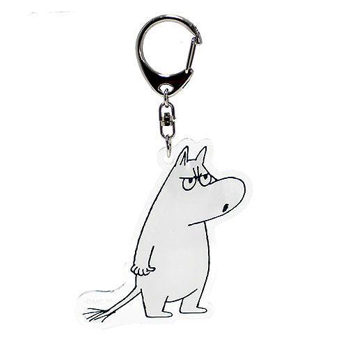 Gakken MOOMIN嚕嚕米造型透明壓克力鑰匙圈生氣GK15049