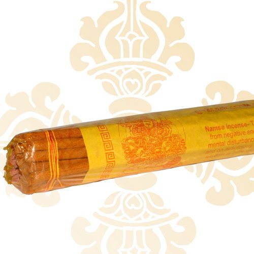 藏傳佛教文物臥香-財寶天王尼泊爾純手工法製造線扎臥香
