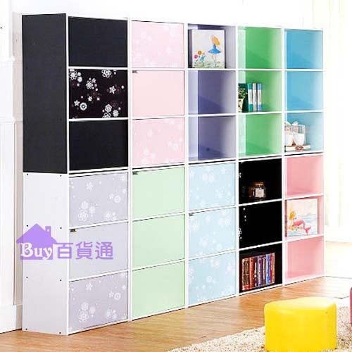 花系列彩色三層門櫃免運三層櫃三格門櫃收納櫃置物櫃櫃子空櫃附們台灣製造1330百貨通