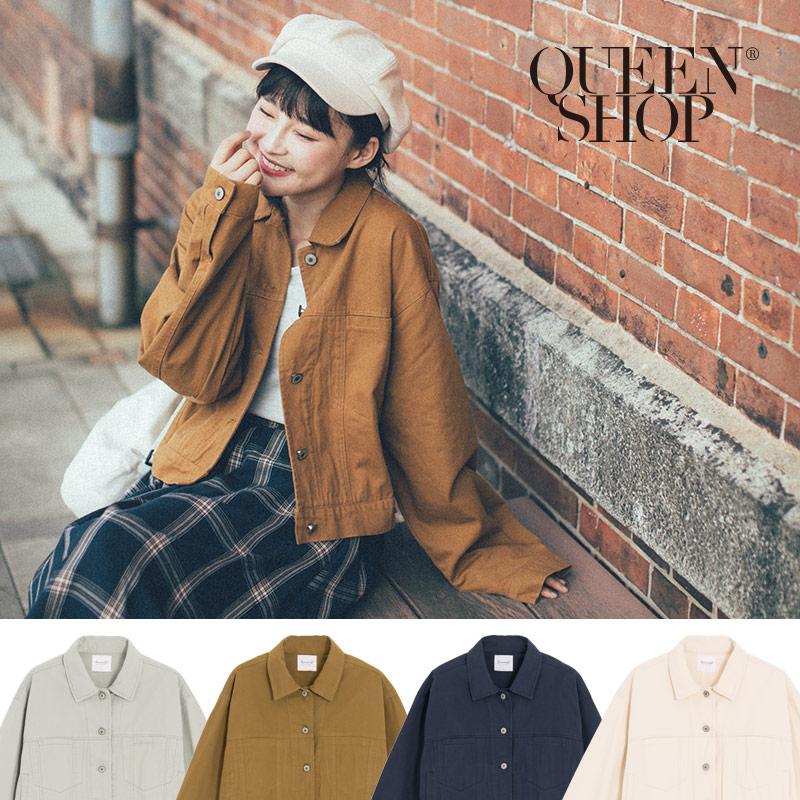 Queen Shop【02071115】短版排釦造型外套 四色售*現+預*