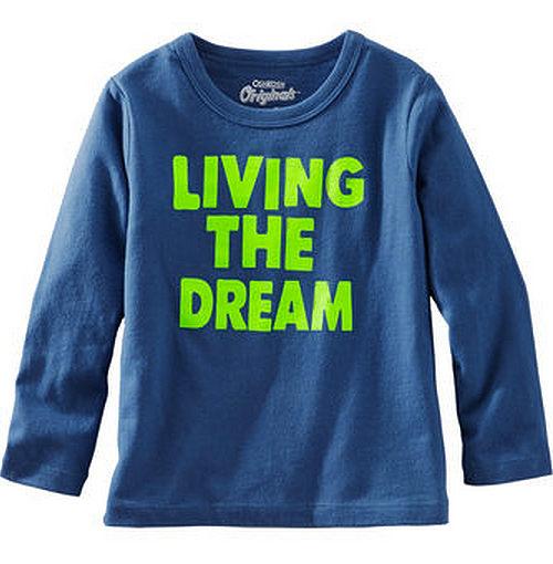 Carter's/OshKosh B'gosh 美國童裝 純棉T恤 長袖 藍色 12M