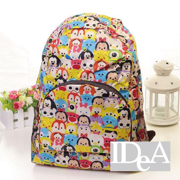 迪士尼TSUM TSUM疊疊樂防水雙肩後背包運動書包球衣練習袋全家集點Disney可固定在行李架上