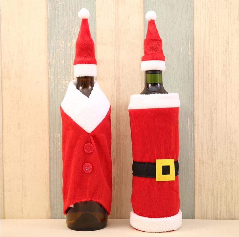 聖誕節用品聖誕紅酒瓶套紅酒瓶衣服聖誕紅酒瓶袋預購CH2487