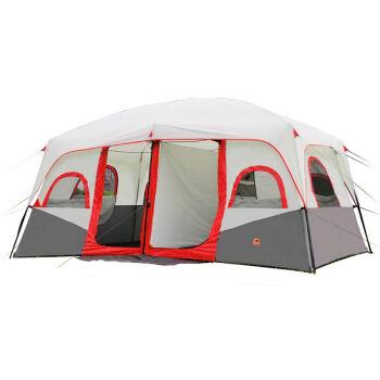 [UF72戶外露營]東方駱駝系列 10-12人 伸縮自動大帳篷 雙層防風防雨空間大CM094/2色可選