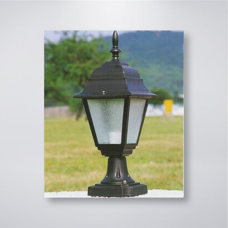 小四角戶外防水門柱燈  可搭配LED