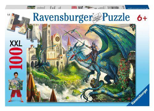 Ravensburger維寶100片拼圖-騎士與龍