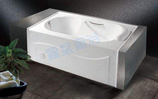 麗室衛浴BATHTUB WORLD長型壓克力浴缸LS-6120單牆120*70*48cm