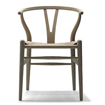 丹麥 Carl Hansen & Son CH 24 Wishbone Chair with Soap Finish Y 字椅 皂裝款(山毛櫸 - 黑色紙纖)