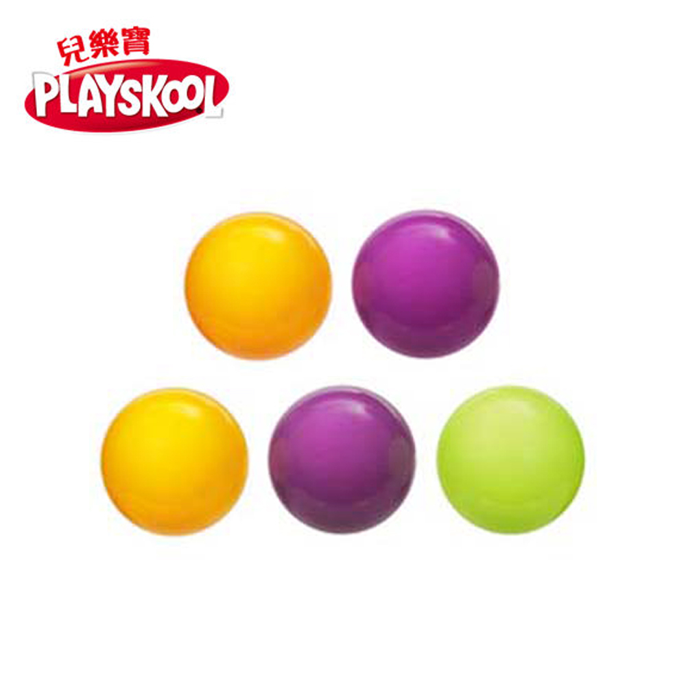 PLAYSKOOL兒樂寶-彈跳系列球球補充包(5入-顏色隨機出貨)