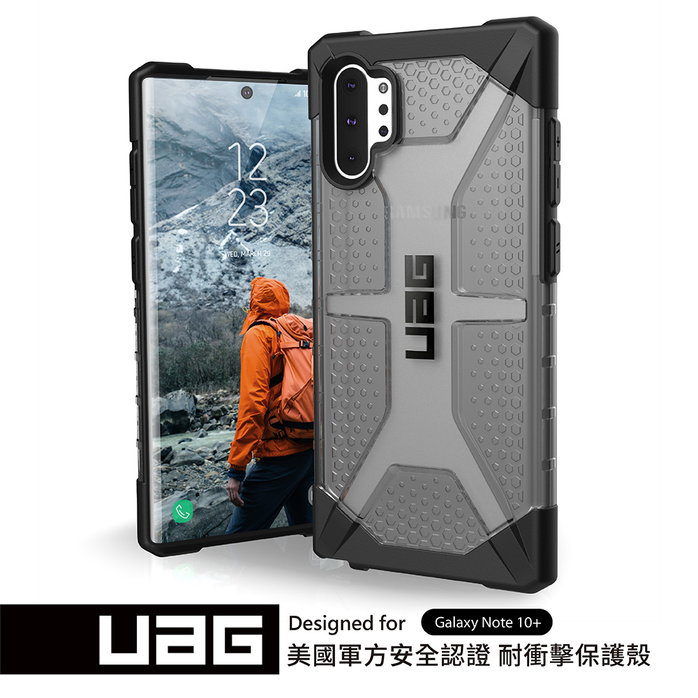 UAG Galaxy Note 10+ 耐衝擊保護殼-透黑