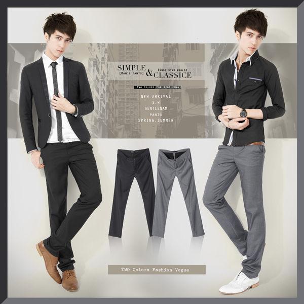 SW零碼出清韓雅痞感修身顯瘦質感紋扣同色口袋邊微彈性輕素面西裝褲Dior版型K32107
