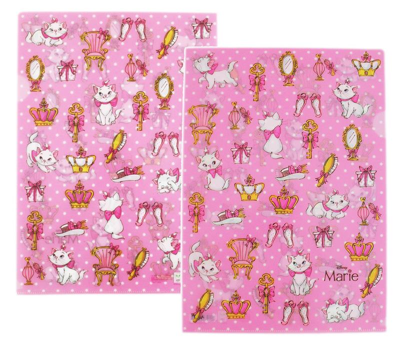 卡漫城瑪麗貓L字型資料夾兩入一組粉色滿版版文件夾檔案夾日版日本製瑪莉貓Marie