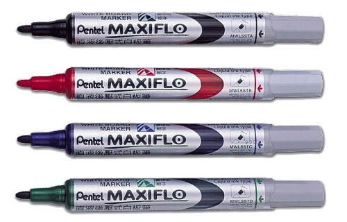 [奇奇文具] 【飛龍 Pentel 白板筆】  飛龍Pentel MWL5S 直液式後壓白板筆/後壓式白板筆 (細字)