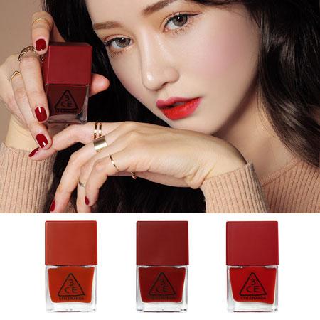 韓國 3CE RED NAIL LACQUER 指甲油 10ml 紅色指甲油 3CONCEPT EYES