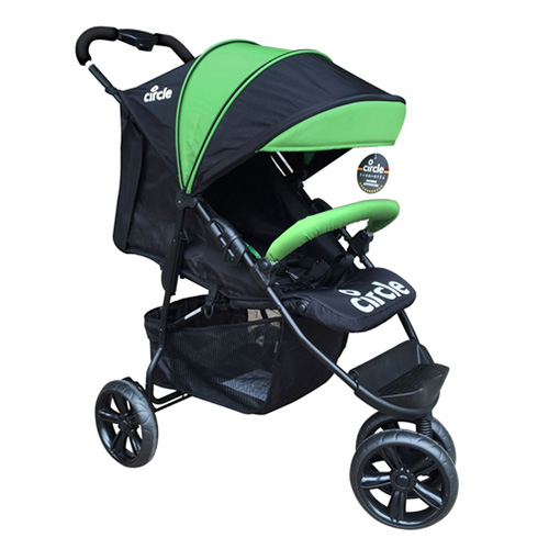 德國 Circle TREVISO 3S 3輪手推車/推車/嬰兒推車-綠