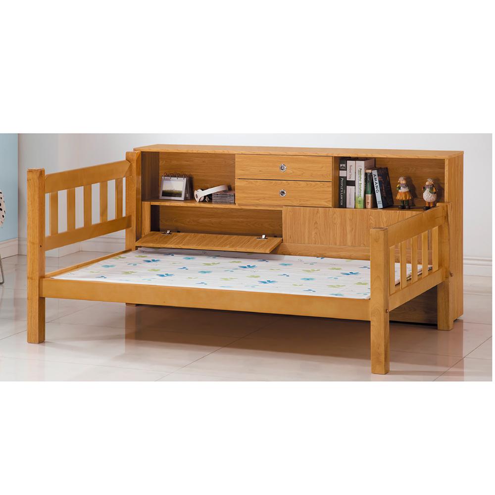 白木3.7尺床架含床邊櫃x1 17SP A087-3 DD House