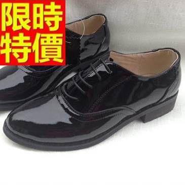 女牛津鞋-漆皮騎士風簡約繫帶簡約真皮女皮鞋2款65y18巴黎精品