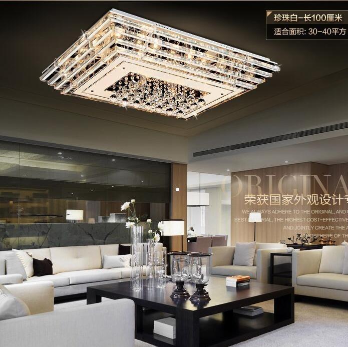 正韓LED吸頂燈具客廳燈長方形水晶燈生日禮物superman