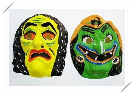 鬼面具.萬聖節鬼面具.造型面具.變裝面具薄.膠面一個入促10