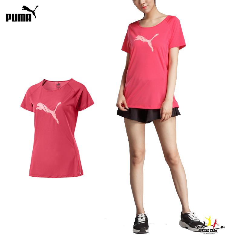 Puma Core-Run 女 粉色 短袖 上衣 慢跑衣 訓練系列 短袖T恤 透氣 排汗 休閒 運動 瑜珈 51646704