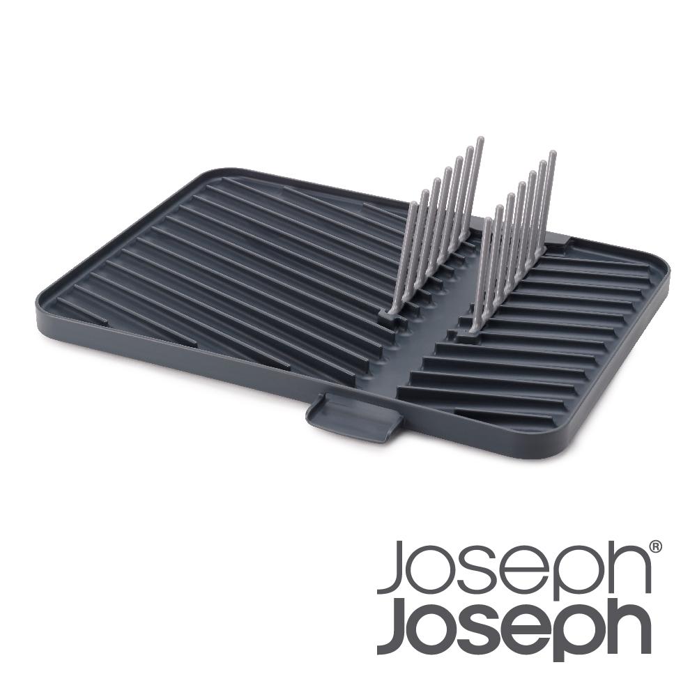 英國 Joseph Joseph 好靈巧可排水碗盤瀝水收納架-灰