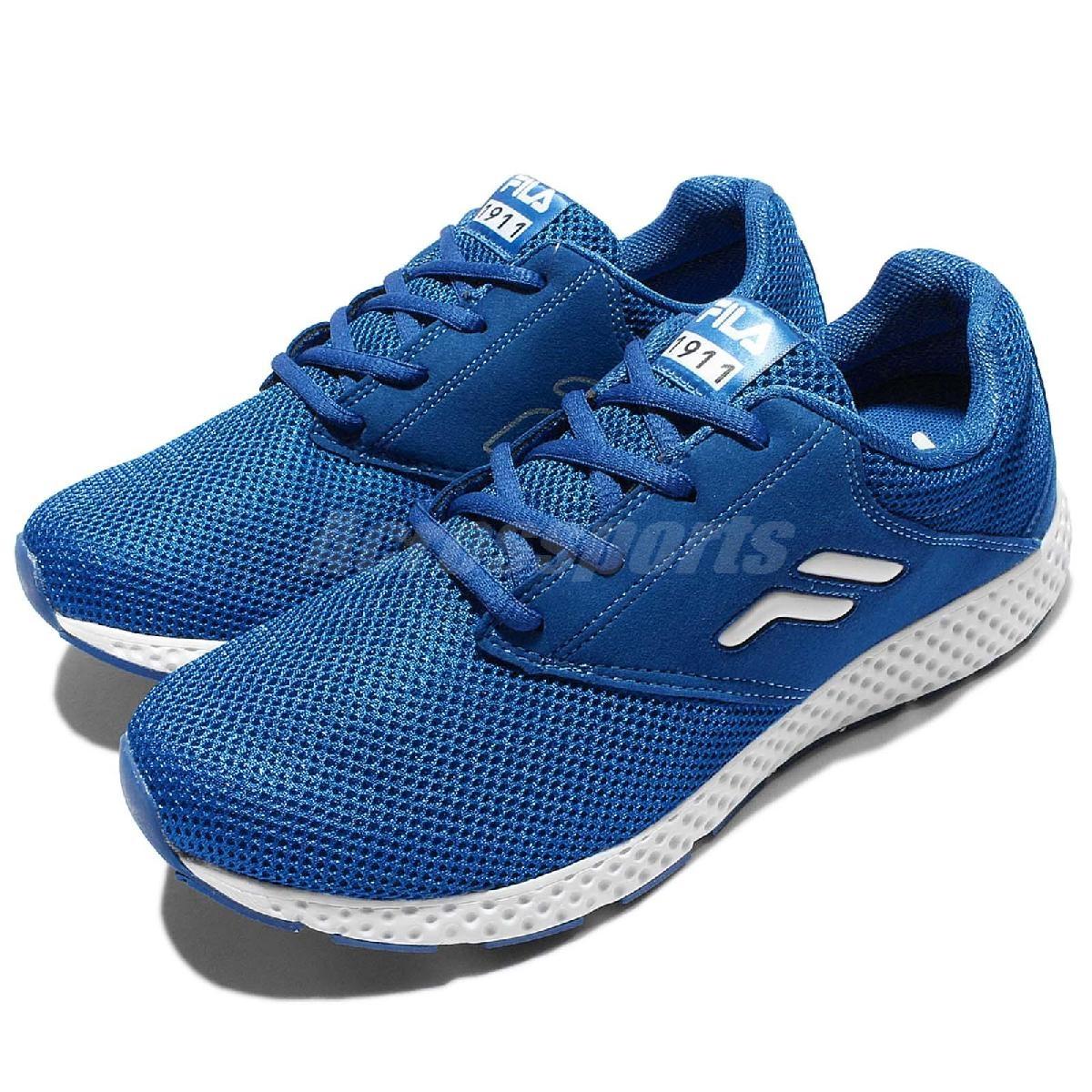 FILA 慢跑鞋 J311Q 藍白 基本款 路跑 男鞋【PUMP306】 1J311Q331