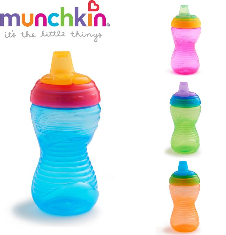 【愛吾兒】美國 Munchkin 好握鴨嘴防漏杯296ml 9個月以上適用