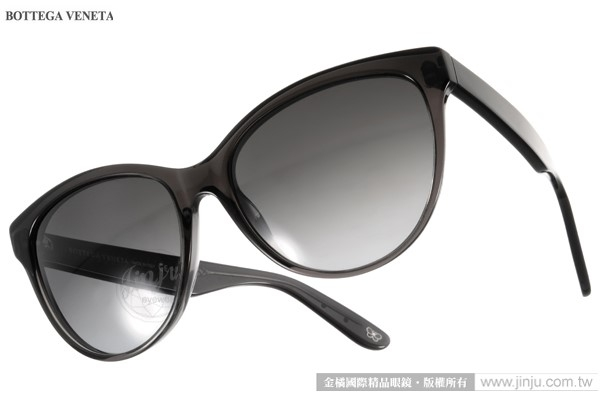 BOTTEGA VENETA太陽眼鏡BV262S 4PYHD透黑時尚斑斕紋格款金橘眼鏡