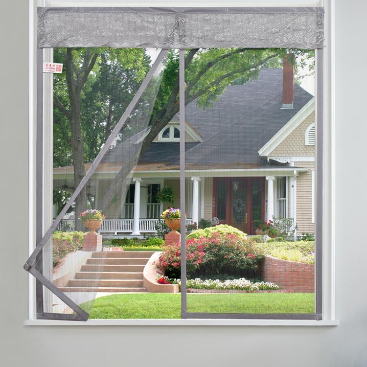 防蚊紗窗網魔術貼自粘隱形紗網紗窗簾磁性窗紗門簾簡易沙窗網IGO