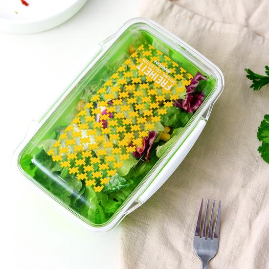 米菈生活館M29-2帶蓋密封保鮮飯盒小便當卡扣菜盒野餐三明治露營食物外出