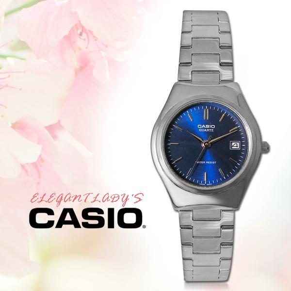 CASIO手錶專賣店CASIO手錶LTP-1170A-2A防水不鏽鋼藍面三折疊錶扣全新