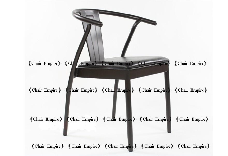 《Chair Empire》LOFT美式鄉村餐椅復古做舊工礦風格 鐵藝 皮墊 Y椅 休閒椅咖啡椅
