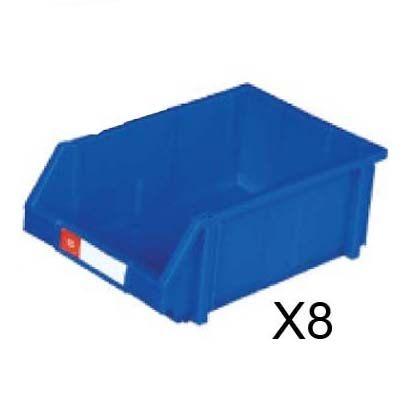 nicegoods耐衝擊整理盒8個箱寬30cm深45cm高17.7cm塑膠盒整理盒收納盒
