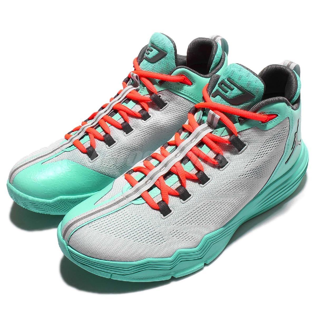 Nike籃球鞋Jordan CP3.IX AE X XDR 9代室外耐磨氣墊灰綠男鞋PUMP306 845340-016