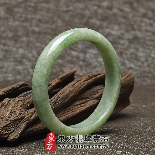 豆種手鐲豆種玉鐲豆種翡翠手鐲淺綠色玉鐲手鐲些微透光圓鐲18 BE015