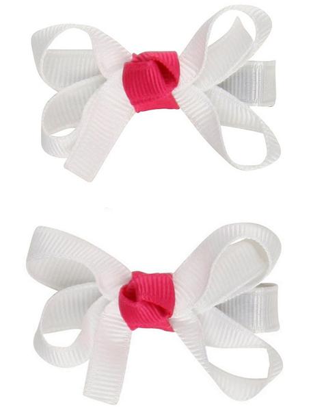 俏麗蝴蝶結髮夾: 天使白覆盆莓: RB-HB-70314