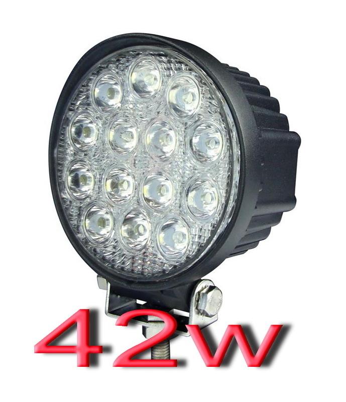 42W LED車燈聚光12V~24V LED燈霧燈日行燈貨車霧燈汽車燈12v車燈24v車燈非27w