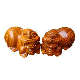 紅酸枝木貔貅居家招財辟邪吉祥風水動物擺件木雕瑞獸紅木工藝品