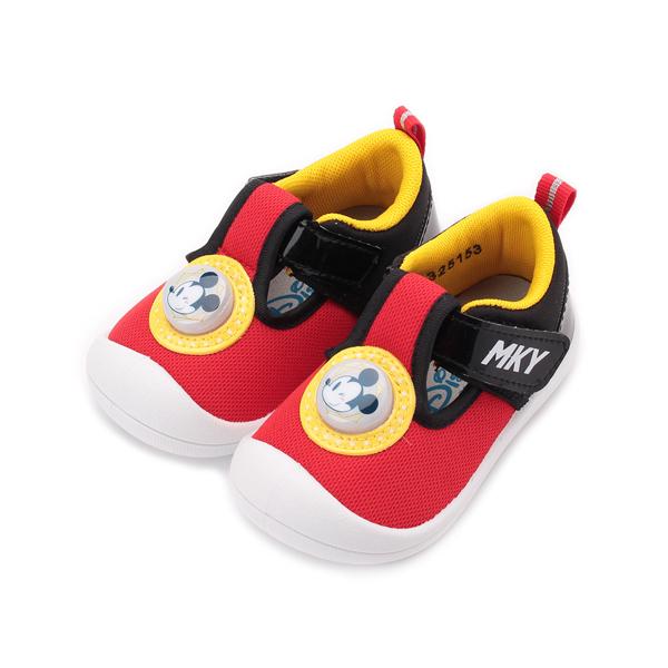 DISNEY 米奇電燈寶寶鞋 紅黑 中小童鞋 鞋全家福