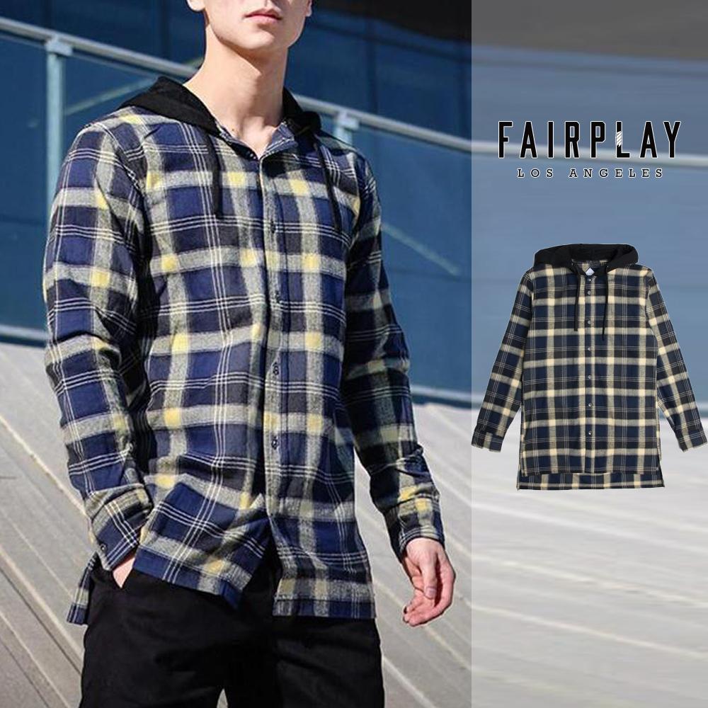 FAIRPLAY THOM - NAVY 長板 襯衫 休閒 【GT Company】