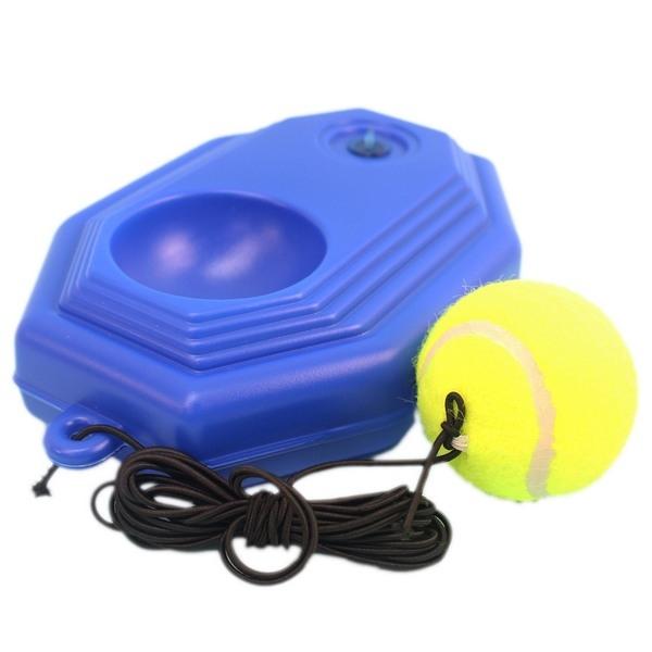 單人網球訓練器國手網球訓練座網球練習器橡皮筋球底座球一組入定250