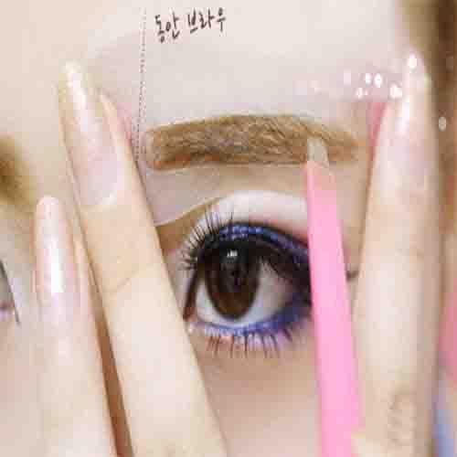 畫眉卡DIFF韓系完美眉型3入粗眉平眉自然眉型畫眉器畫眉板畫眉輔助器畫眉毛