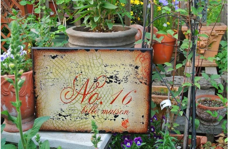 木質做舊花園無框畫