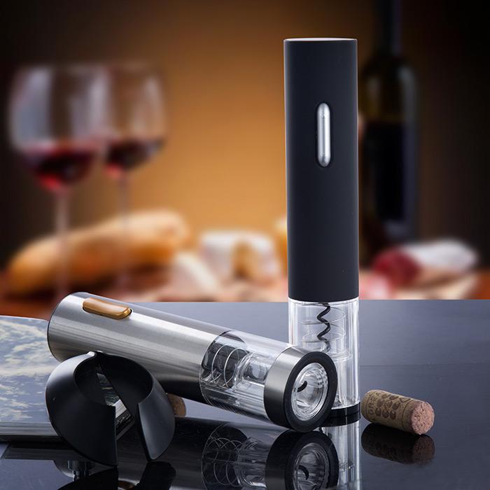 不鏽鋼電動紅酒開瓶器電池款葡萄酒開瓶器紅酒酒具自動開酒器